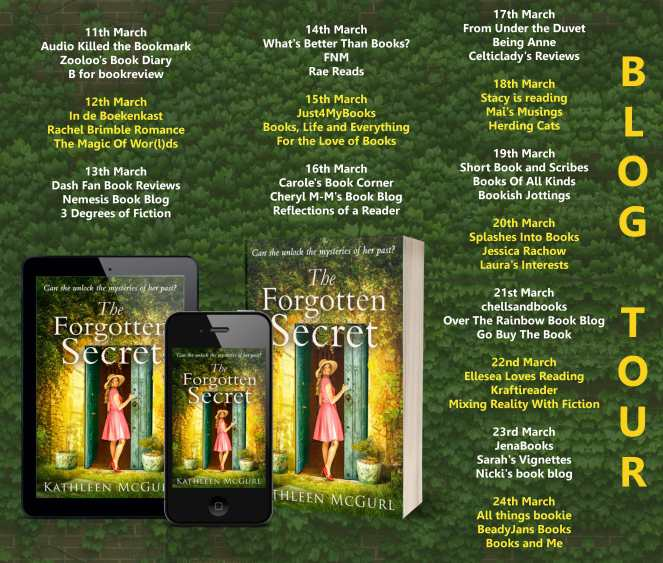 The Forgotten Summer by Kathleen McGurl blog tour poster