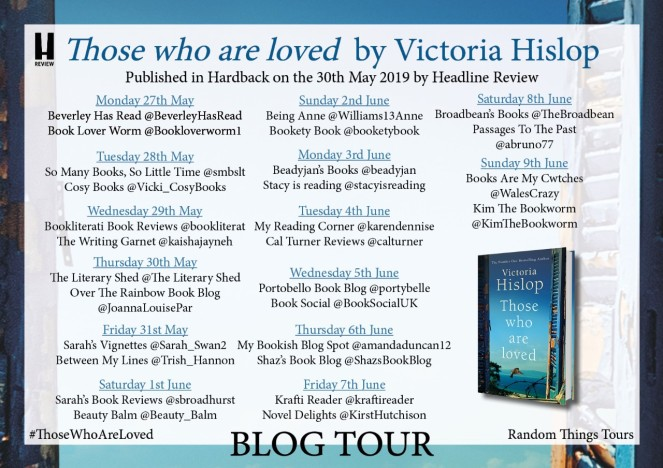 Those Who Are Loved by Victoria Hislop blog tour poster