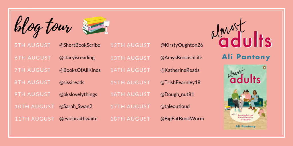 Almost Adults blog tour poster