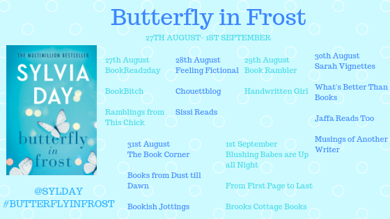 Butterfly in Frost blog tour poster
