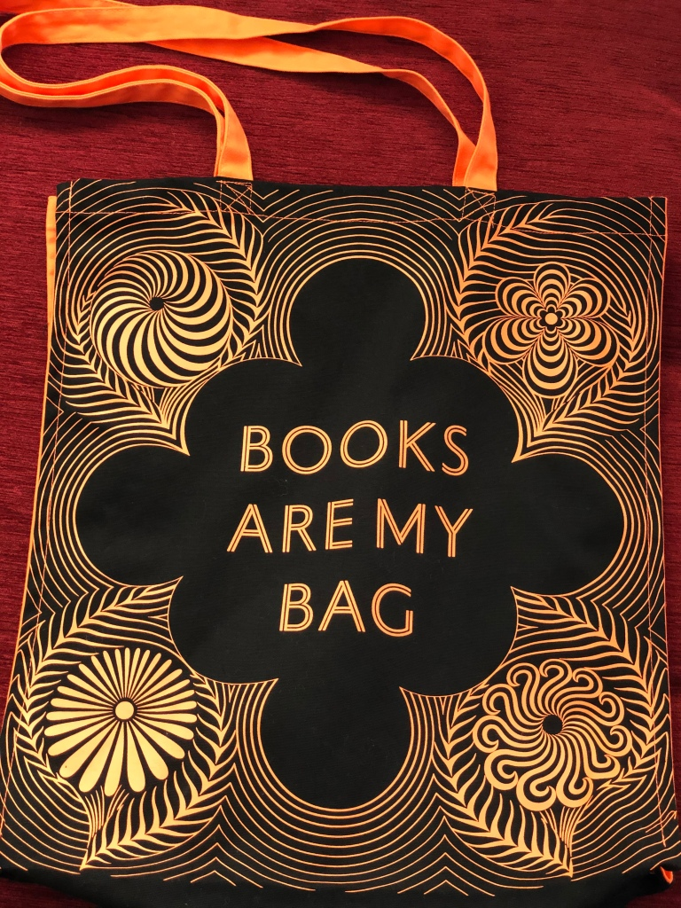 Front of Books Are My Bag tote bag