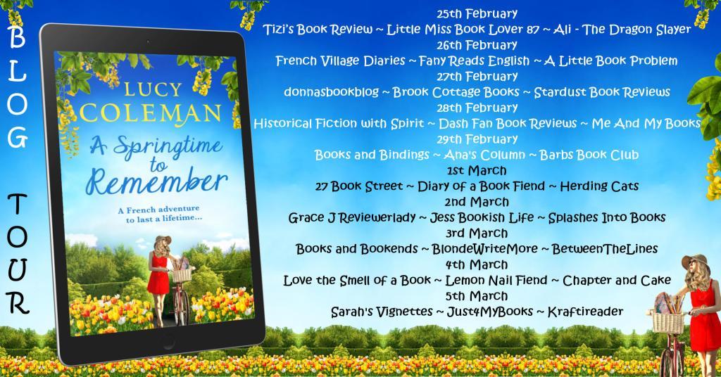 A Springtime to Remember blog tour poster