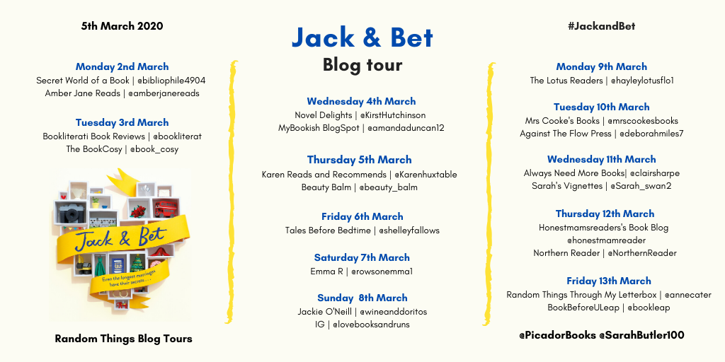 Jack and Bet Blog tour poster