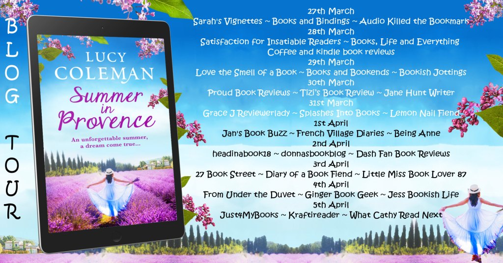 Summer in Provence blog tour poster