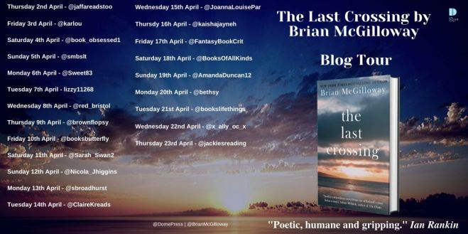 The Last Crossing blog tour poster