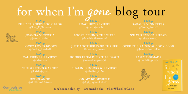 For When I'm Gone Blog Tour Asset
