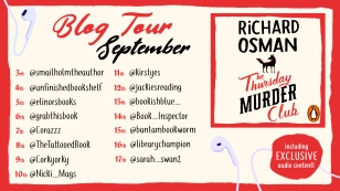 The Thursday Murder Club blog tour poster